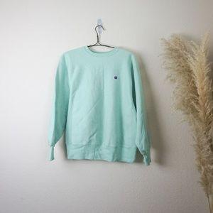 Champion mint crewneck sweatshirt